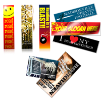 Bookmarks, Bumper Stickers, Club Cards