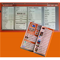 Menus - Disposable Menus and Wall Menus
