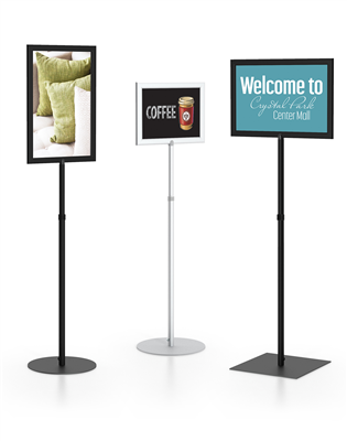 Pedestal Sign Frames