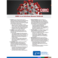CERC in an Infectious Disease Outbreak