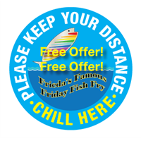 Keep Safe Distance - Free Offer - Round