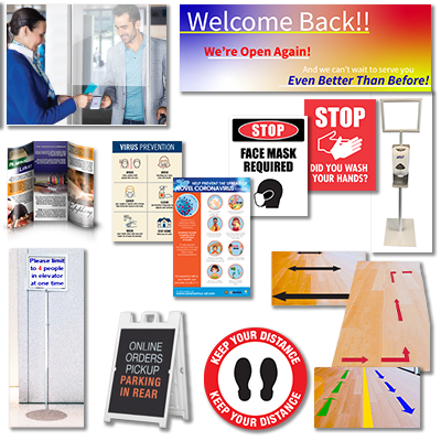 Reopening Signage and Safety Products -  Premium Package