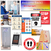 Reopening Signage and Safety Products -  Deluxe Package