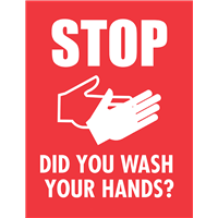 Stop did  you wash your hands?