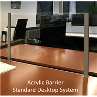 Acrylic Barriers with Side Supports
