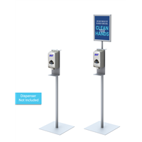 Hand Sanitizer Stand with Customized Sign