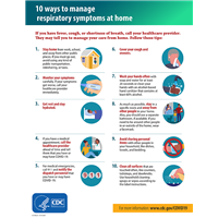 Poster - 10 Ways To Manage Respiratory Symptoms at Home