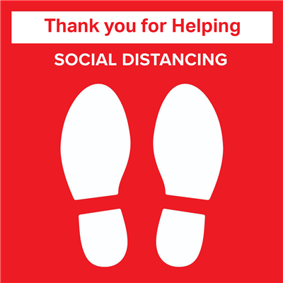 Thank You for Helping - Social Distancing