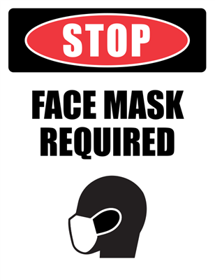 Stop - Face Mask Required