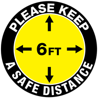 Please Keep A Safe Distance - Round