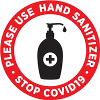 Please Use Hand Sanitizer - Round