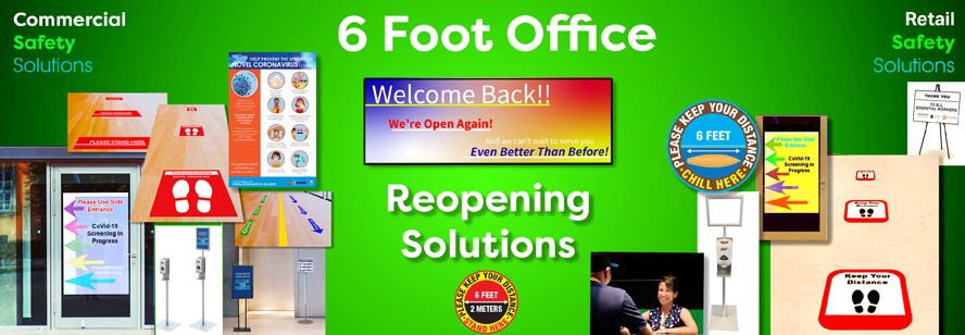 6 Foot Office Reopening Safety Solutions